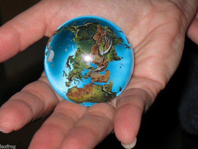 Big 2 Crystal Glass Earth Globe Marble Sphere Orrery Earth Globe Globe Crystal Glass