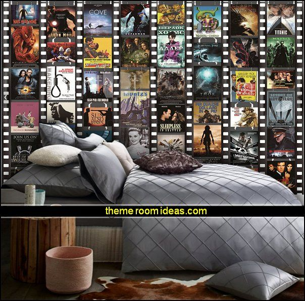 Movie themed bedrooms - home theater design ideas - Hollywood style ...