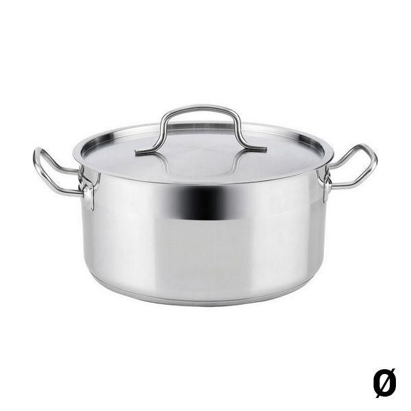 Casserole with lid Quid Azzero Stainless steel - 28 cm