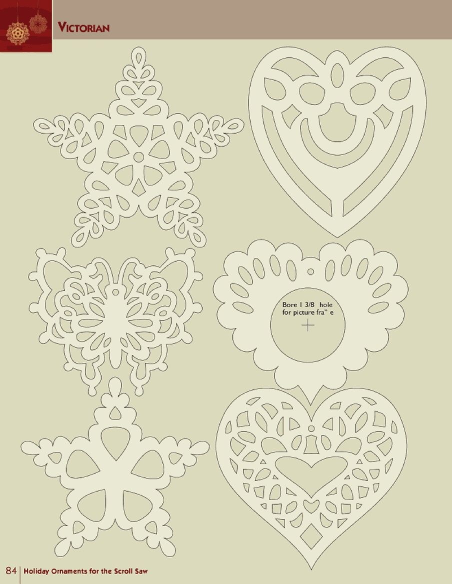 Holiday ornaments for the scroll saw papercutting ideas