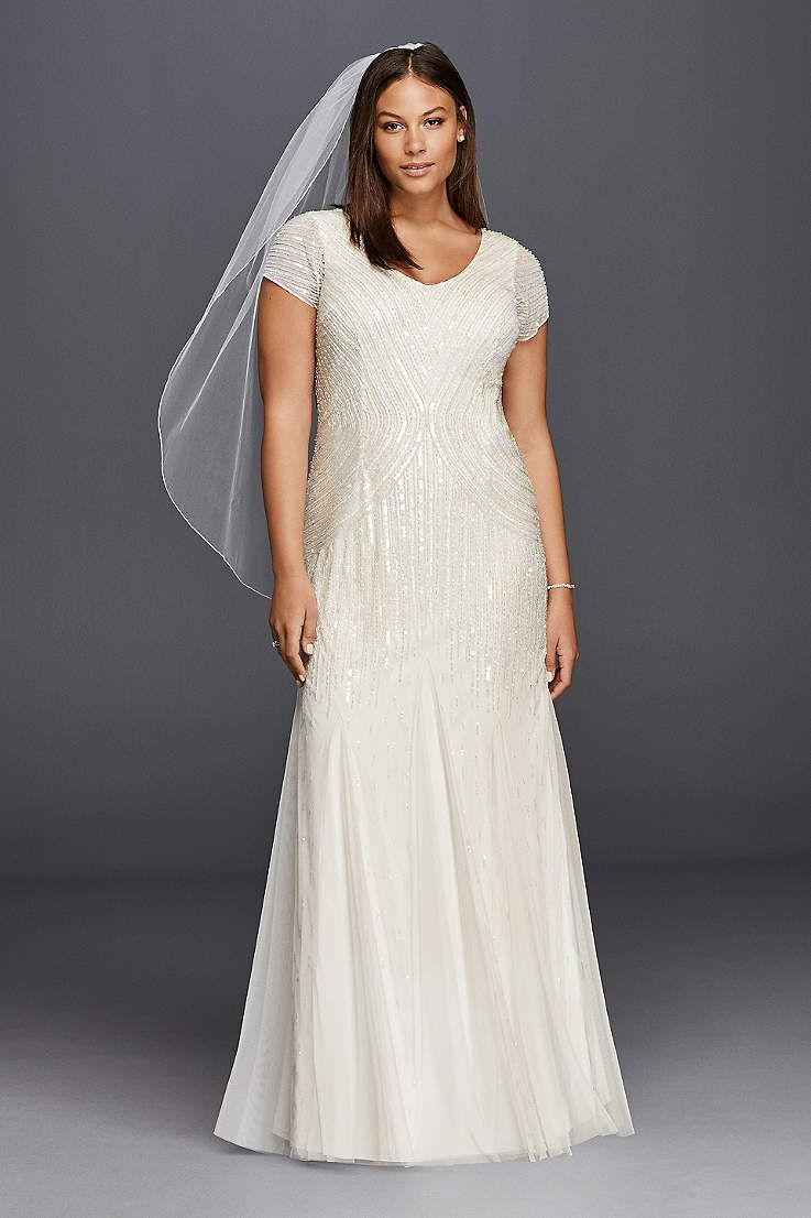 David S Bridal Has Beautiful Plus Size Wedding Dresses That Come In A Variety Of Sizes