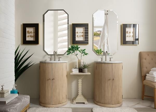 Canberra 24 James Martin Empire Linen Bathroom Vanity Single Bathroom Vanity Single Sink Vanity Single Vanity