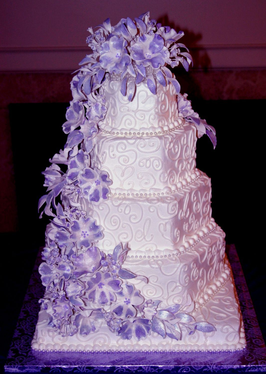 Cake Boss Wedding Cakes Purple