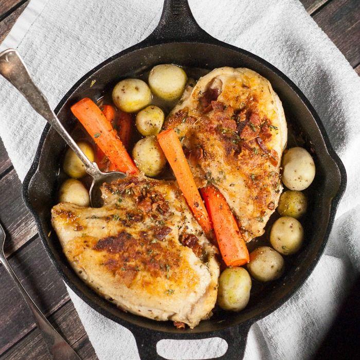 Cast Iron Skillet Roasted Chicken