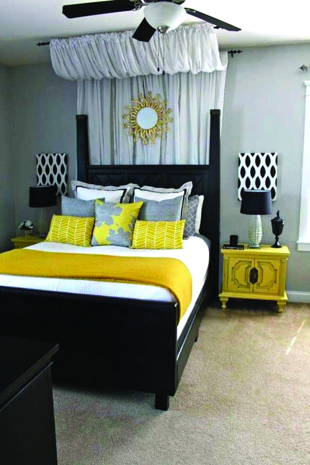 4 Measures To Creating The Utmost Black And White Bedroom Yellow Bedroom Decor Small Room Bedroom Elegant Bedroom
