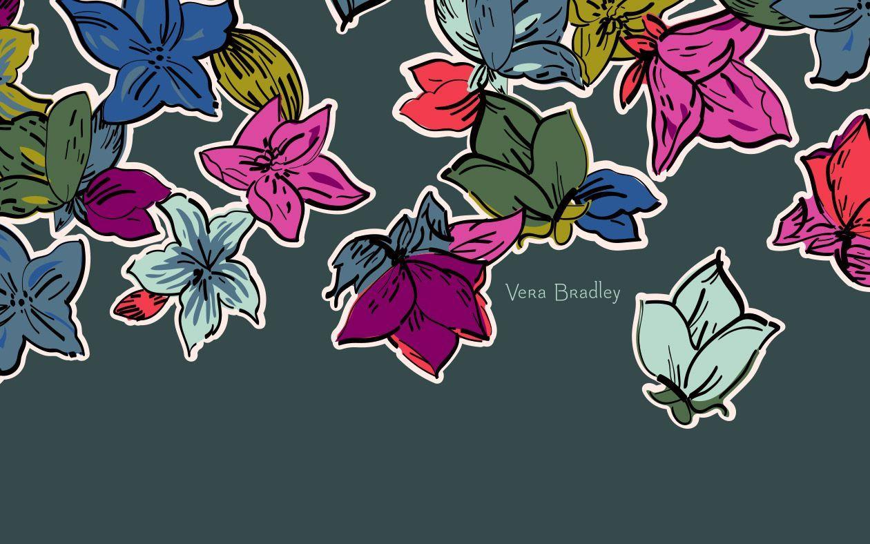Vera Bradley Falling Flowers Desktop Wallpaper Flower