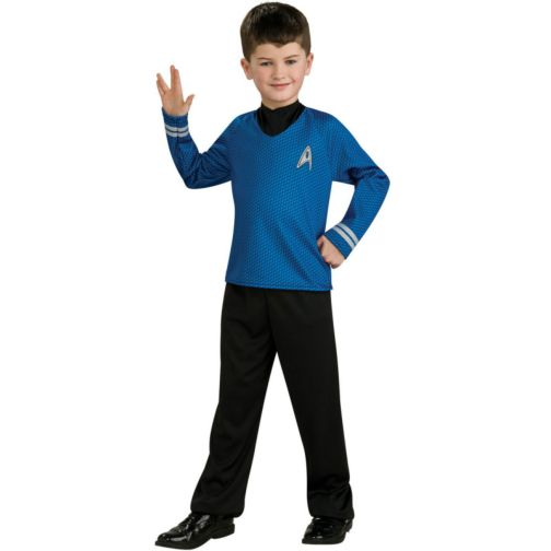 STAR TREK~CAPTAIN KIRK~Gold~CHILDS//BOYS COSTUME~SIZE 8//10 Medium~RUBIES