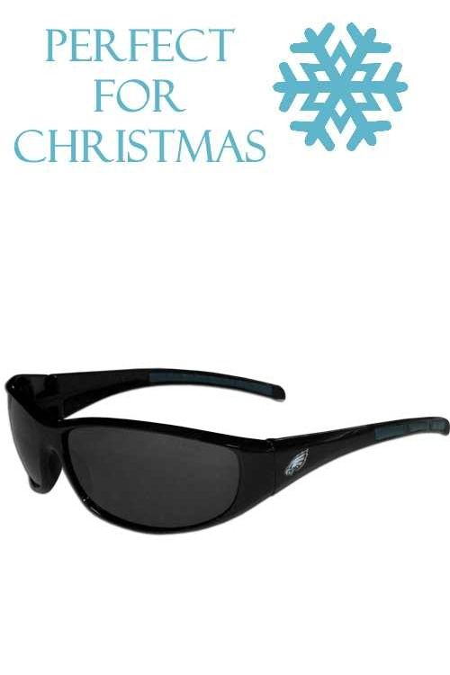 6f8a30cc4fe0 These sporty looking Philadelphia Eagles Wrap Sunglasses have the Philadelphia  Eagles logo screen printed on both