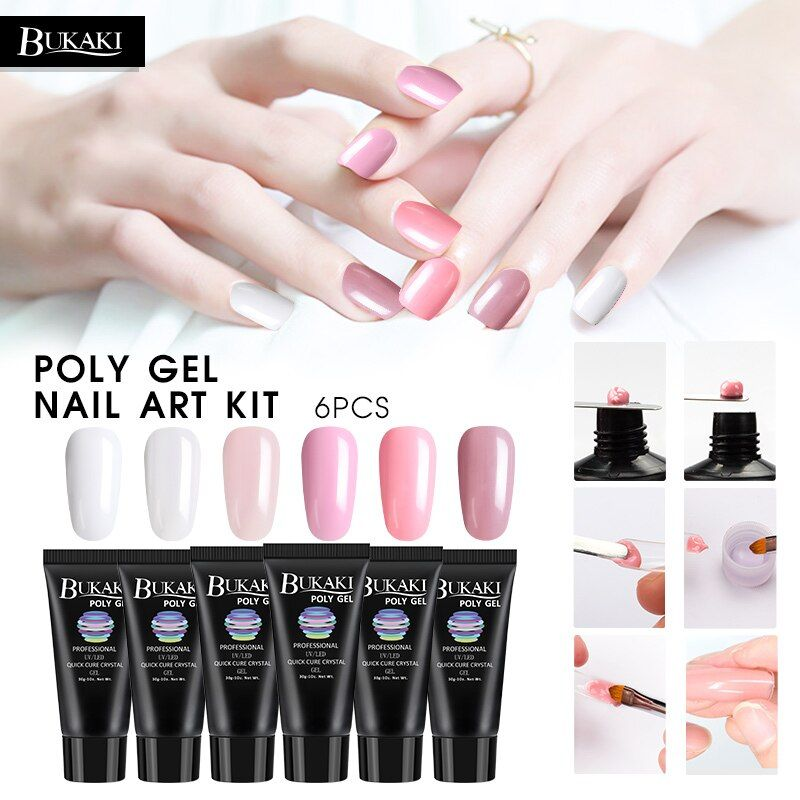 Bukaki 6 Colors Poly Gel Set Fast Dry Builder Extension Lacquer Camouflage Uv Led Lacquer Jelly Gel Polish Manicu Gel Polish Manicure Manicure Kit Nail Art Kit Alibaba.com offers 11,100 acryl gel products. pinterest