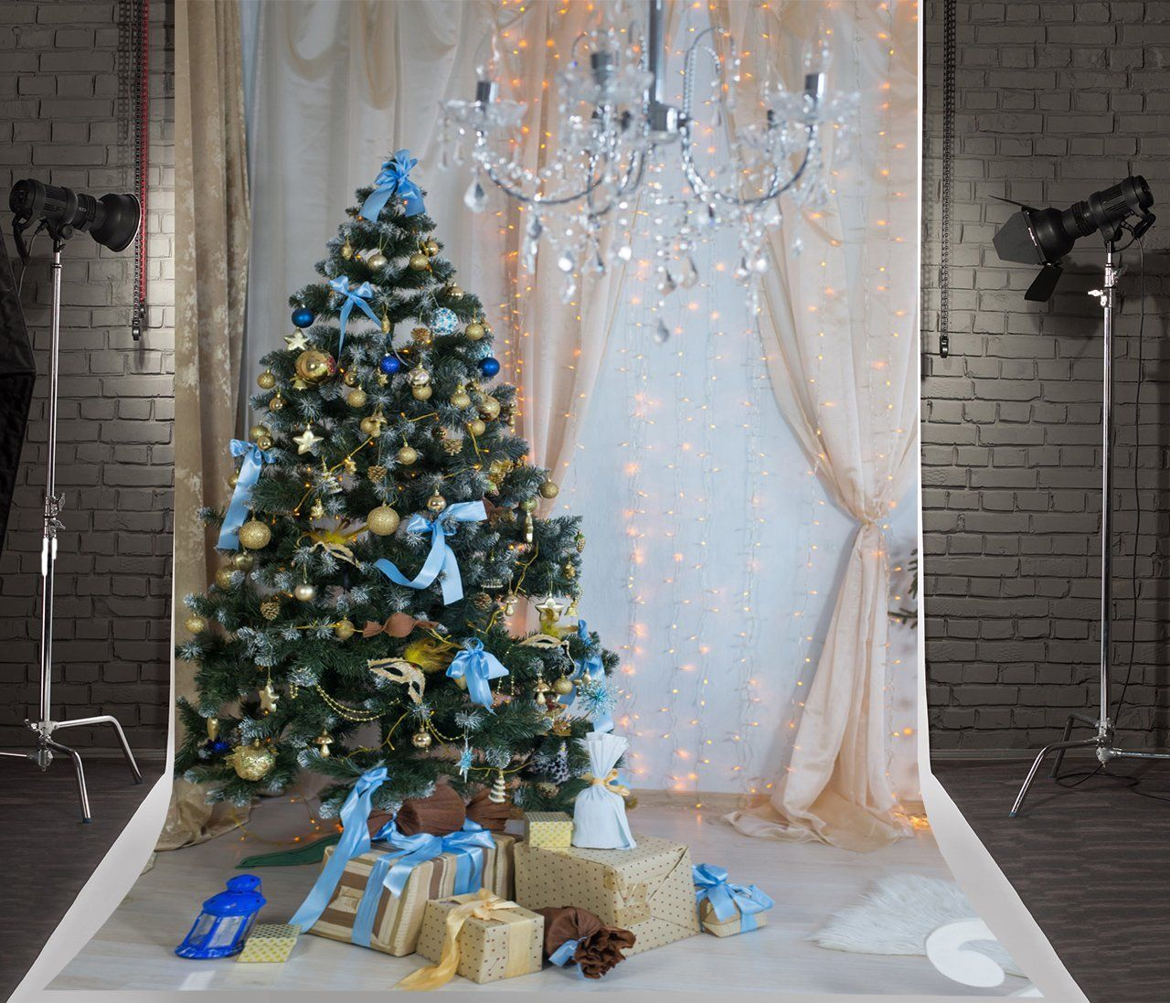 Amazon Com 5x7ft 1 5x2 2m Green Christmas Tree Photography Backdrops Indoor Lighting Background Wit Green Christmas Tree Christmas Tree Photography Backdrops