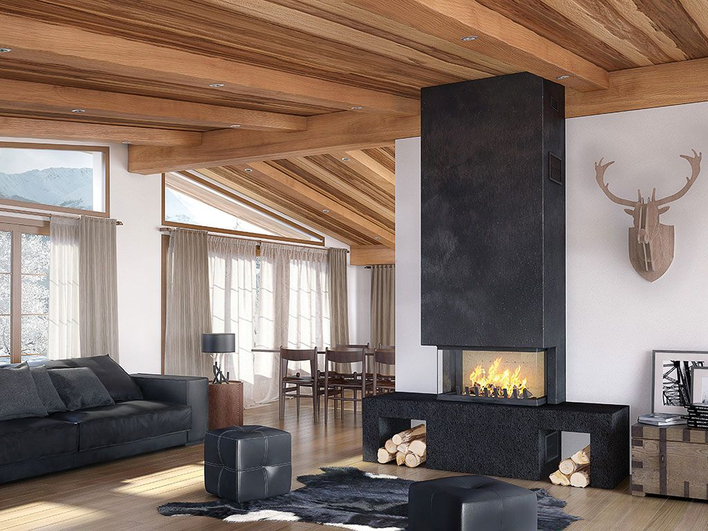 pingl par atryhome chemin es et po les sur chemin es. Black Bedroom Furniture Sets. Home Design Ideas