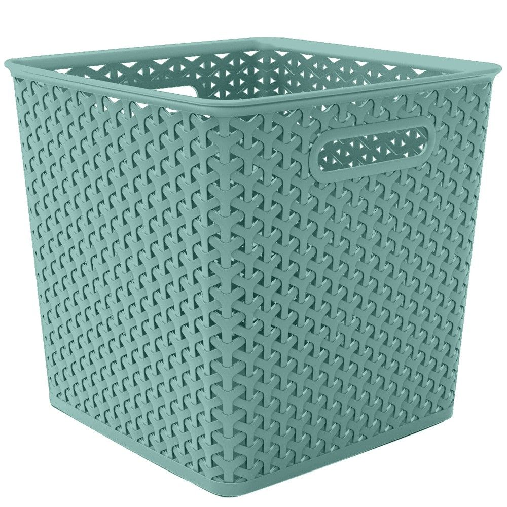 11 Y Weave Cube Turquoise Room Essentials In 2020 Room Essentials Cube Storage Bins Organizing Linens