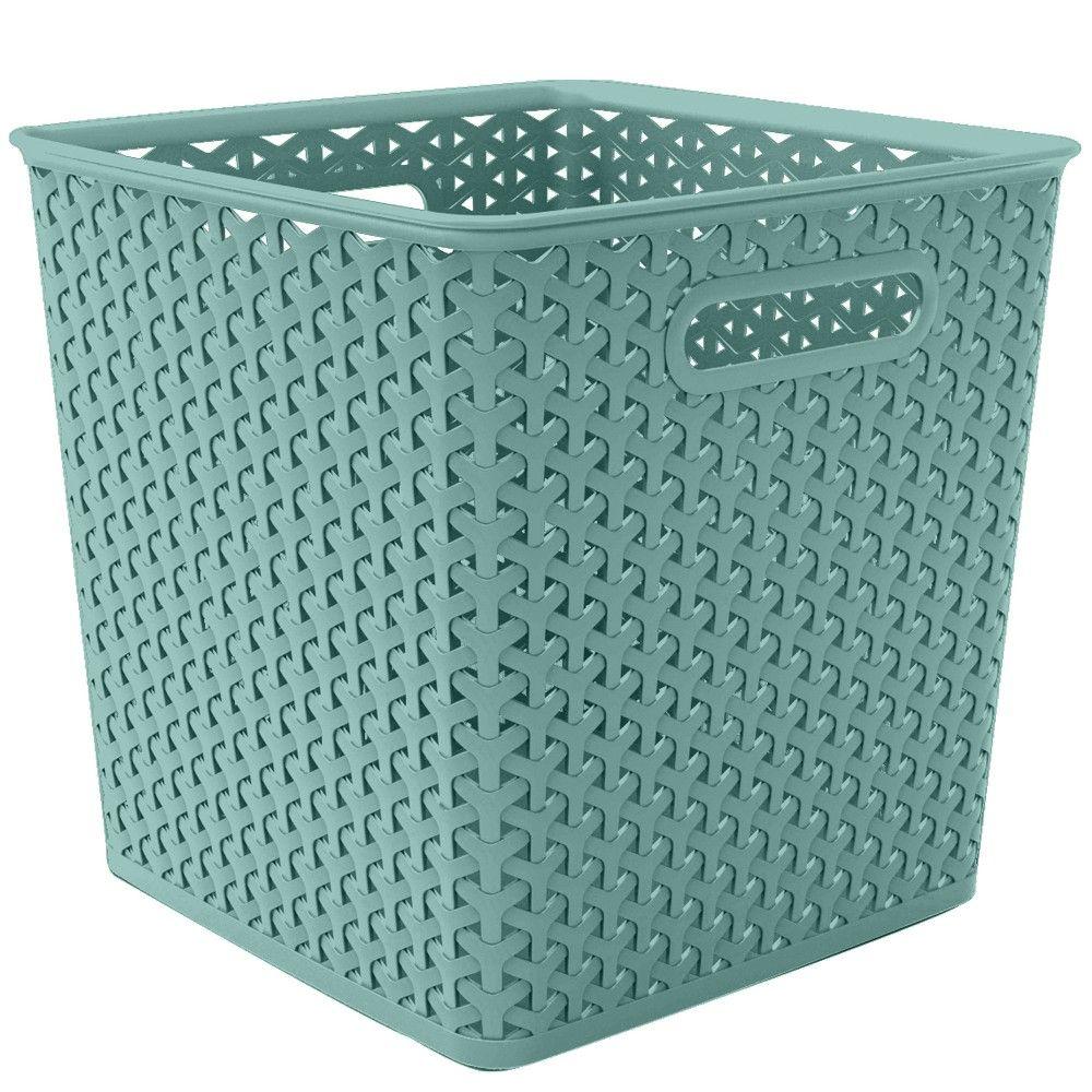 11 Y Weave Cube Turquoise Room Essentials In 2020 Room Essentials Cube Storage Bins Organizing Linens
