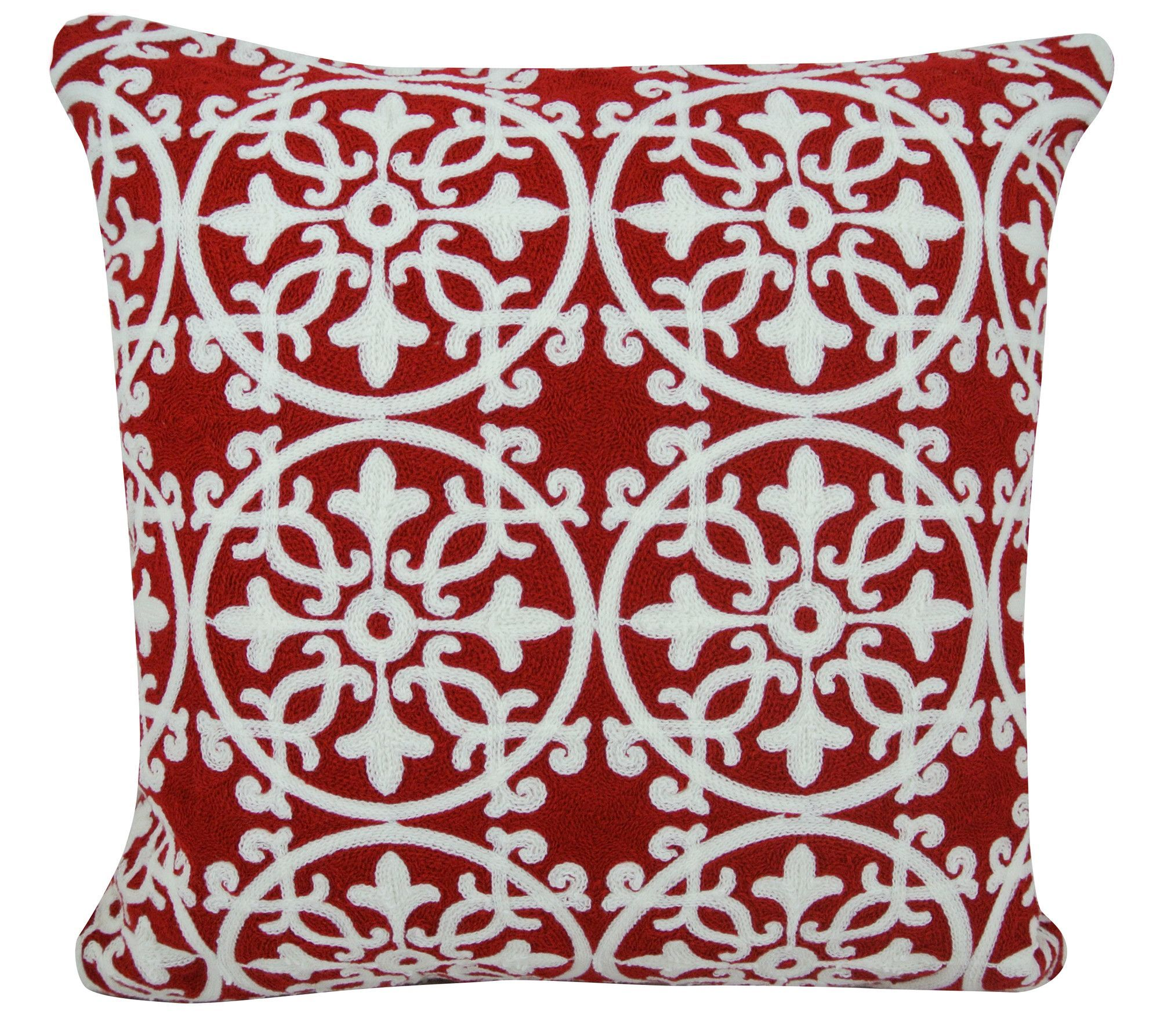 Artistic Linen Licia Decorative Embroidered Throw Pillow