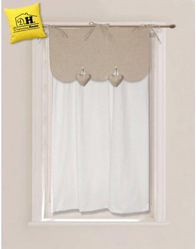 Set mantovana da vetro cuori pendenti collezione cuoricini for Angelica home e country tende