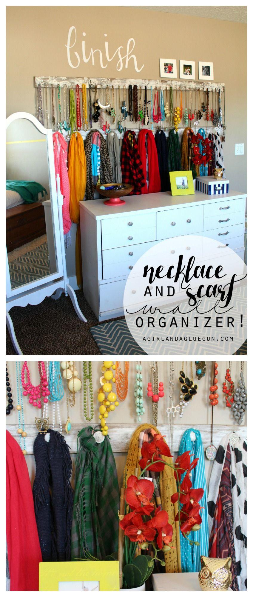 Jewelry And Scarf Organizer Scarf Organization Jewerly Storage