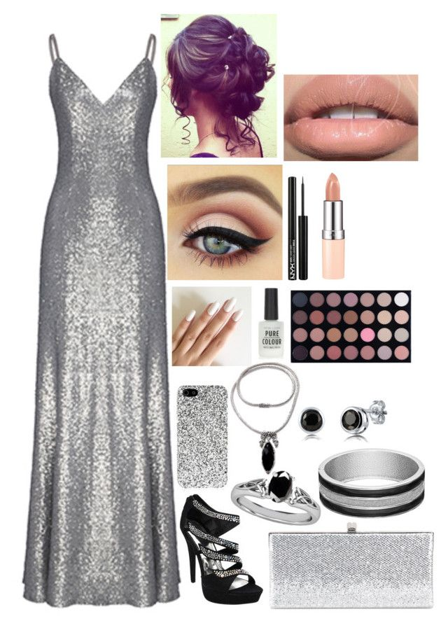 """""""Prom look #13"""" by ellessecrowther on Polyvore featuring Fame & Partners, Jimmy Choo, Yves Saint Laurent, NOVICA, BERRICLE, New Look, NYX, Shany and Rimmel"""