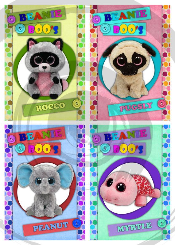 Beanie Boo S Printable Party Bingo Game By Edparty On Etsy Sasha S