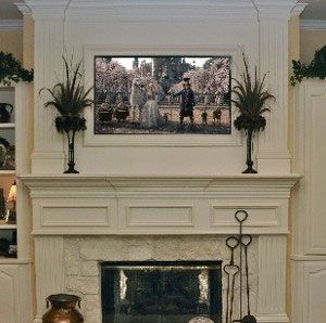 YES TV built into a to the ceiling mantel PLUS network the TV to