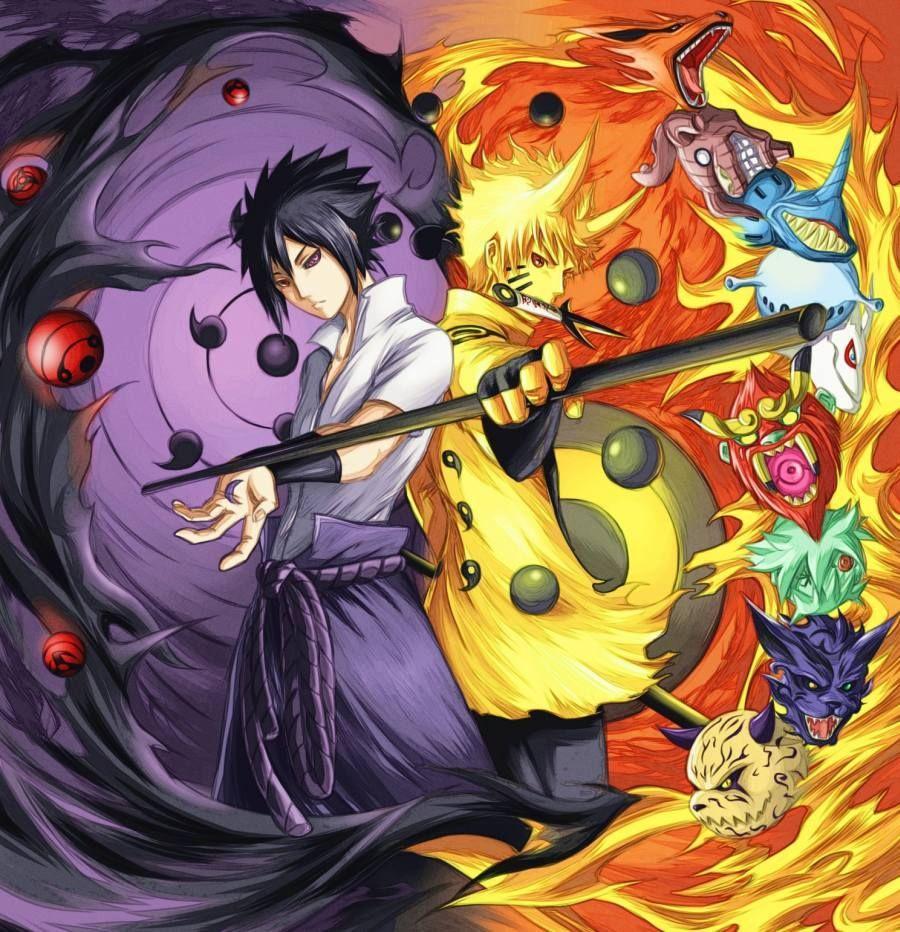 Gambar Poster Naruto Wallpaper Vs Sasuke Uchiha Lampu Kecil Di 2020 Sasuke Uchiha Naruto And Sasuke Naruto