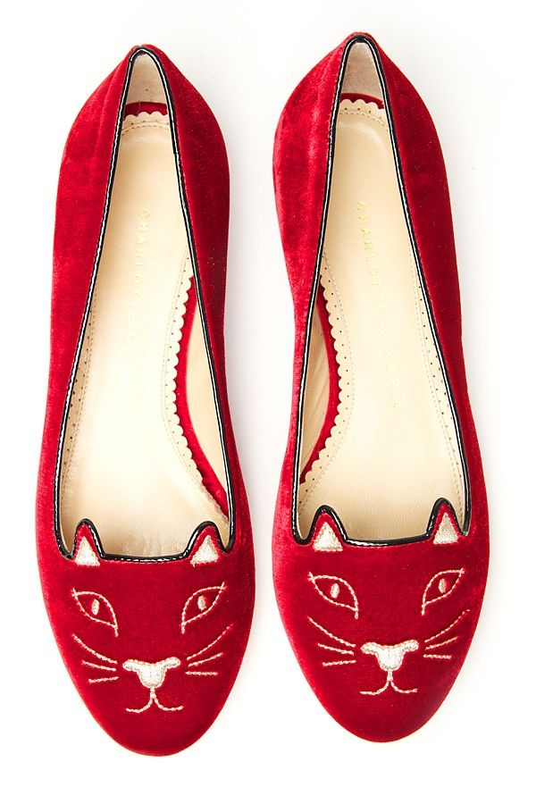 Womens Red Kitty Flat  My Style  Chaussure Sneakers