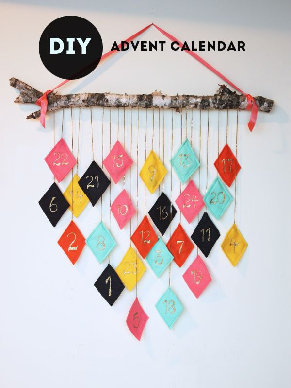 Diy Calendar Crafts : Diy modern advent calendar the sweet escape