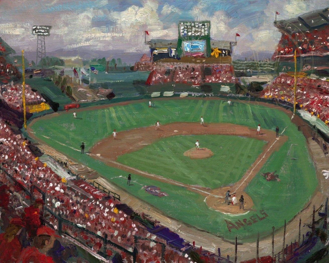 World Series American League Champions Anaheim Angels Thomas Kinkade Mlb World Series Kinkade Paintings