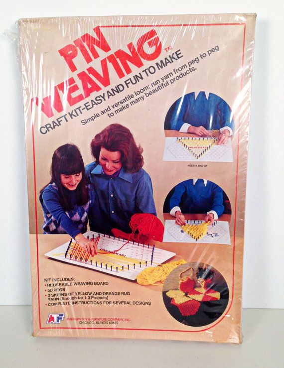Vintage Pin Weaving Craft Kit And Loom Weaving Kit Projects