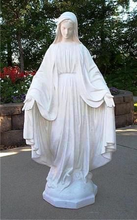 Great Religious Statues | Mary Statue Outdoor | Our Lady Grace Catholic Statuary  | Ital Art World