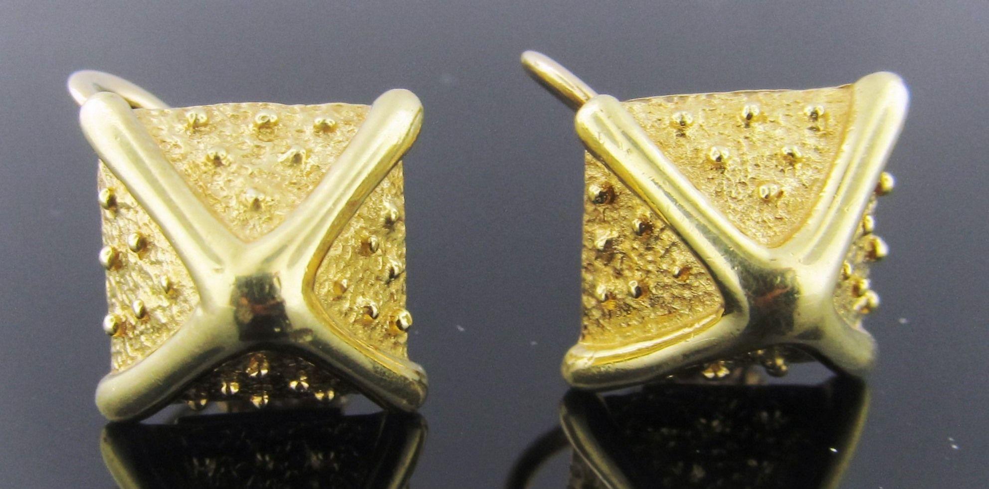 Ferro Jewelers - Estate Jewelry | 18ky Tiffany & Co. Triangle Earrings