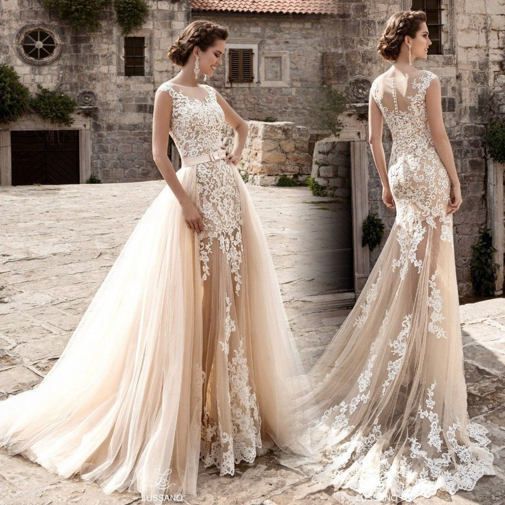 Cool great lace whiteivory mermaid wedding dress bridal gown custom