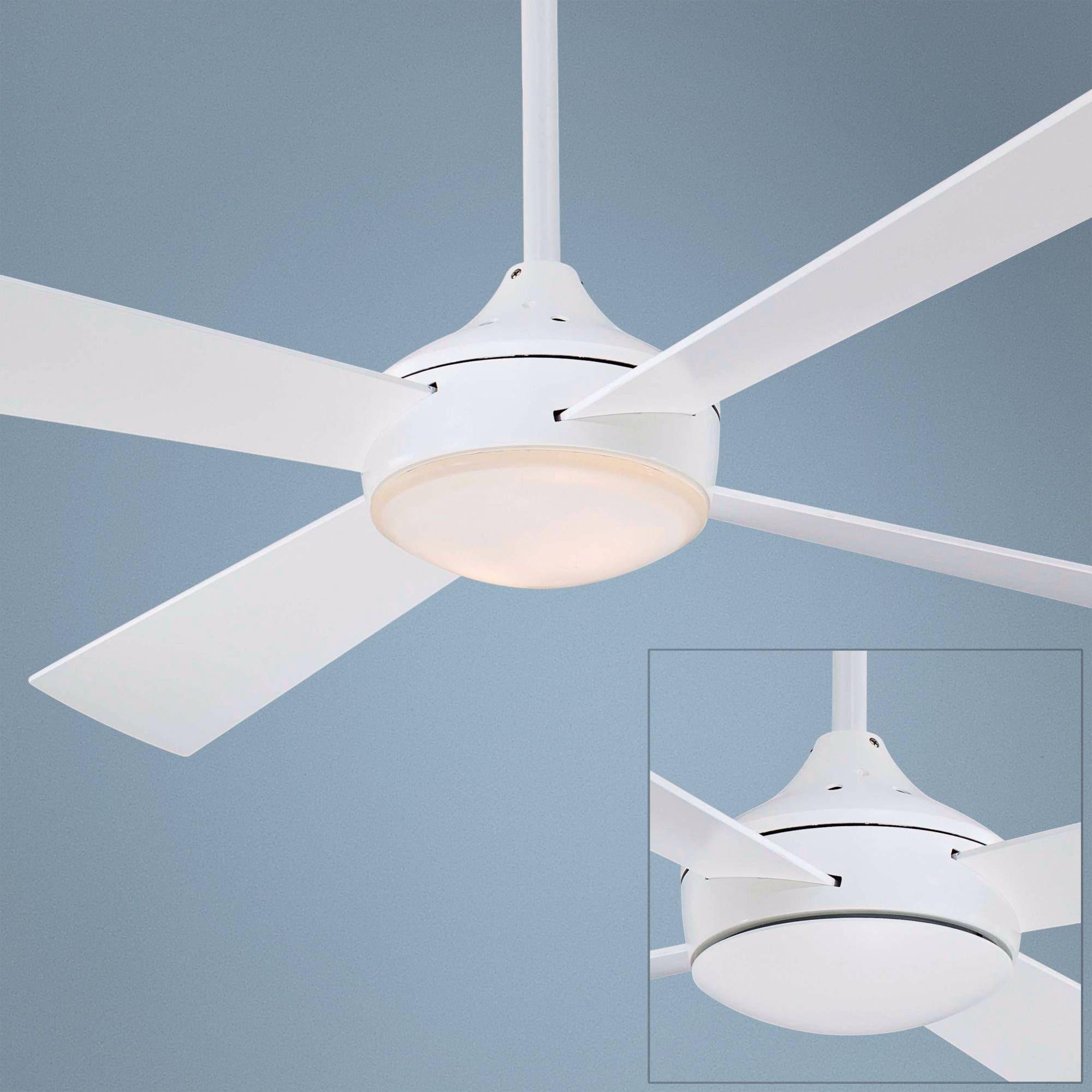 "52"" Minka Aire Aluma Flat White Ceiling Fan"