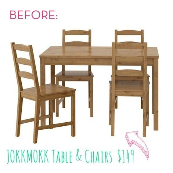 Before And After Old Ikea Table And Chairs Get A Fresh New Look Captivating Ikea Dining Room Chairs Sale 2018