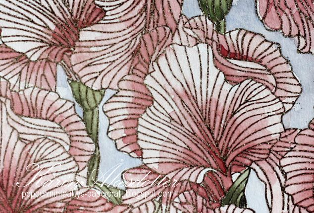 Peppermint Patty's Papercraft: MFT Etched florals - Watercoloring