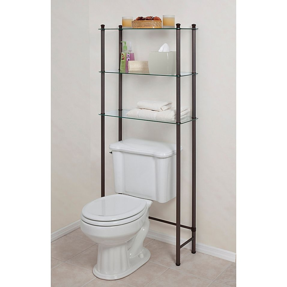 L Etagere Over The Toilet Space Saver In Oil Rubbed Bronze Toilet Storage Bathroom Shelves