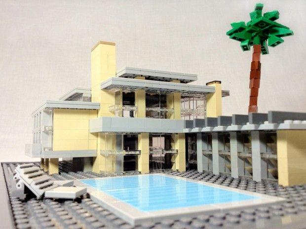 Casa con piscina lego maison lego lego y maison for Casa moderna lego