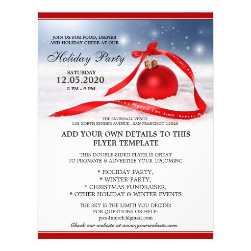 Holiday Party And Event Flyer Templates Holidays and Party - invitation flyer template