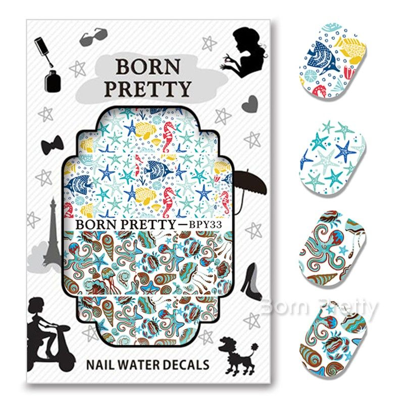 0 99 1sheet Fancy Colorful Feather Eyes French Edge Nail