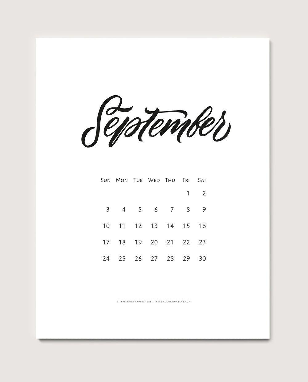 Kalender 2017 September : kalender, september, Calendar:, September, Graphics, Lettering,, Typography, Letters,, Lettering, Design