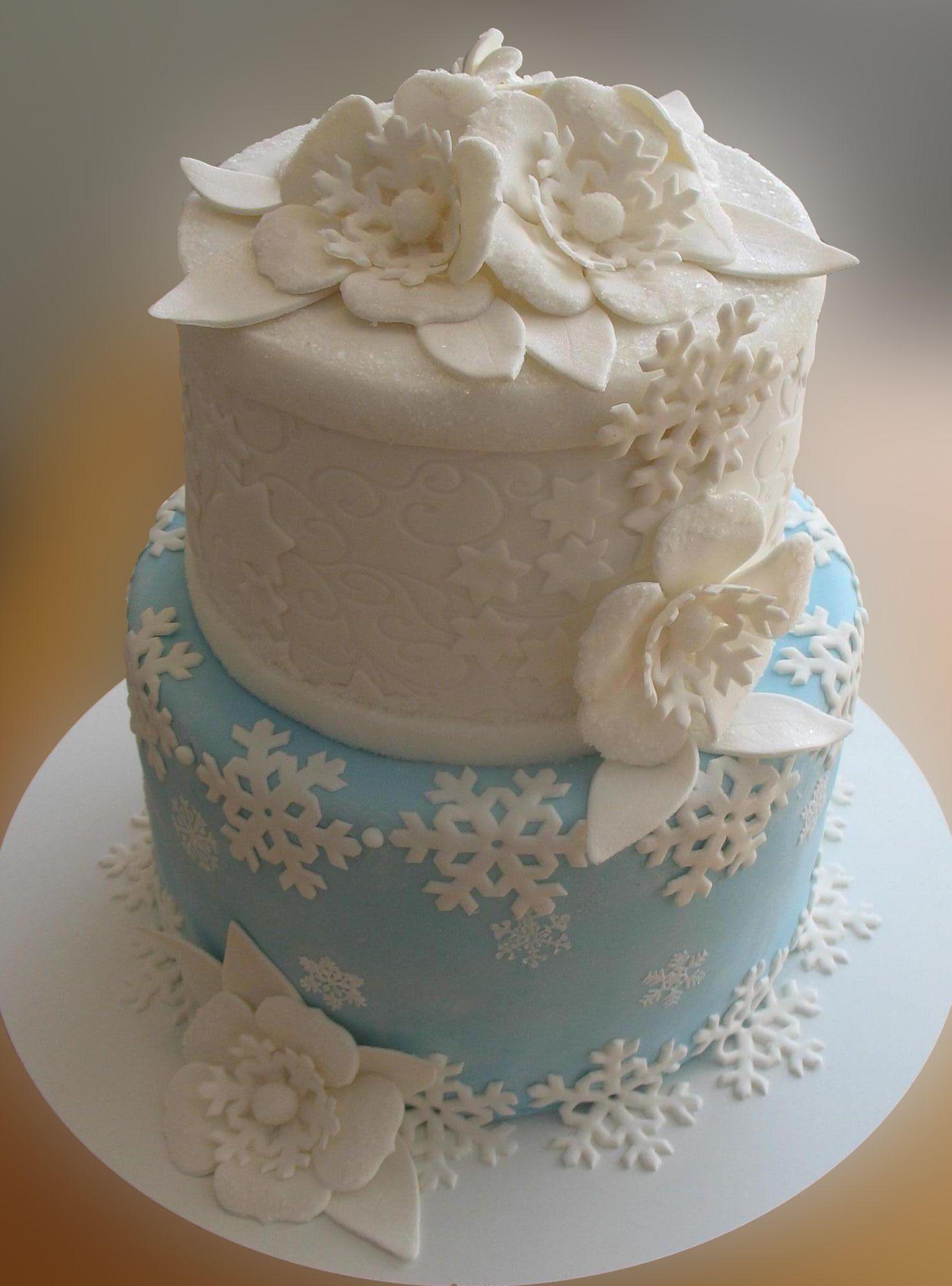 Winter Birthday Cake Designs Winter Cake Birthday Cakes Cakes