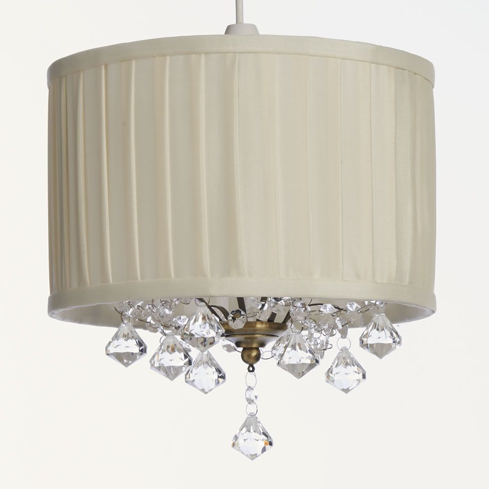 Traditional Jewelled Pleated Shade Cream | Traditional, Bedrooms ...