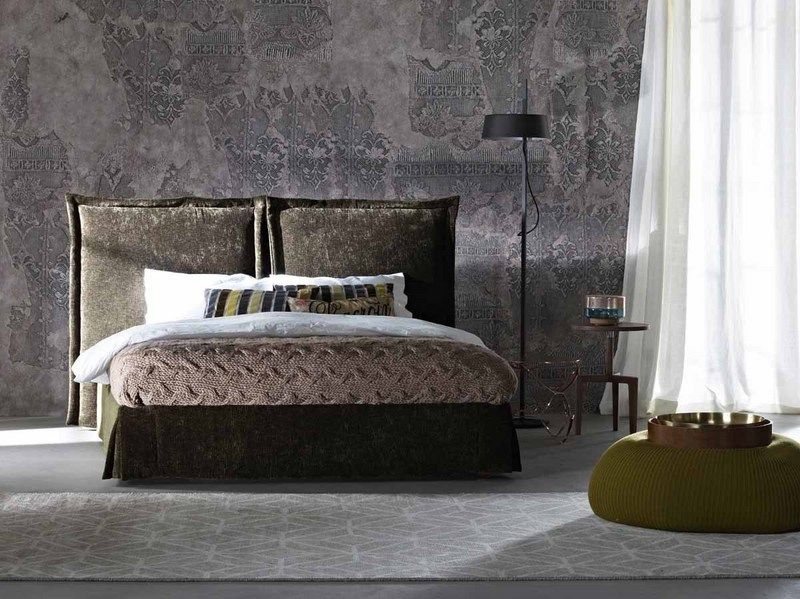 Wall And Deco Sangallo Minimalism Interior Bed Upholstered