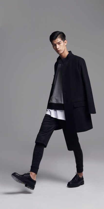 Black x white menswear minimalist style fashion for Minimalist look