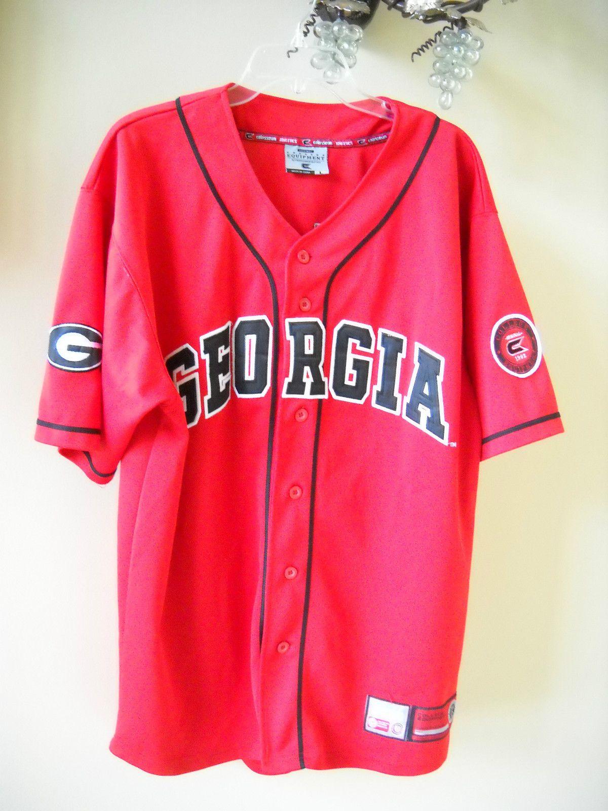 UGA Georgia Bulldogs  33 College Equilpment Colossium Athletics Baseball  Jersey  34baca4f2