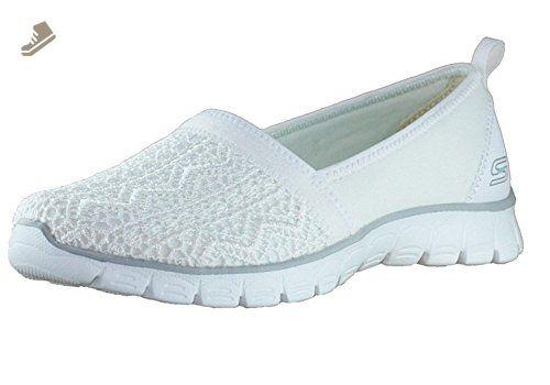 Skechers EZ Flex 3.0 Duchess Womens Slip On Sneakers Natural 8.5