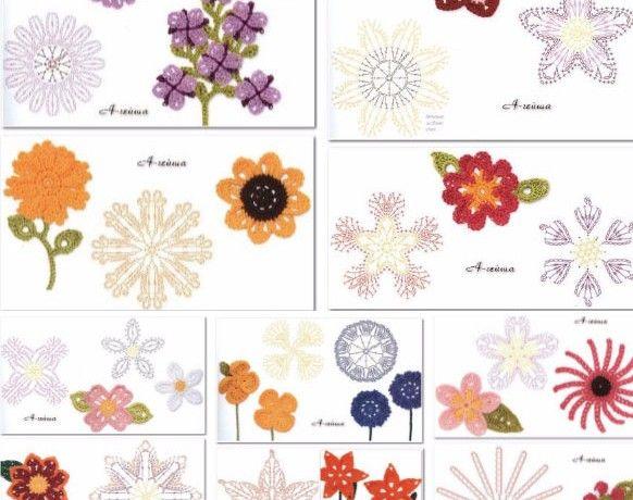 Many Flowers To Crochet Diagrams Hakovanie Pinterest Free