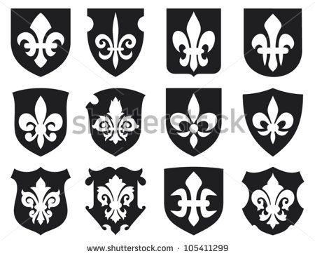 Medieval Shield Symbols Symbol Fleur De Lis And Medieval Shields