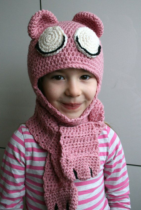 Crochet hat pattern, INSTANT DOWNLOAD, crochet baby bear hat pattern ...