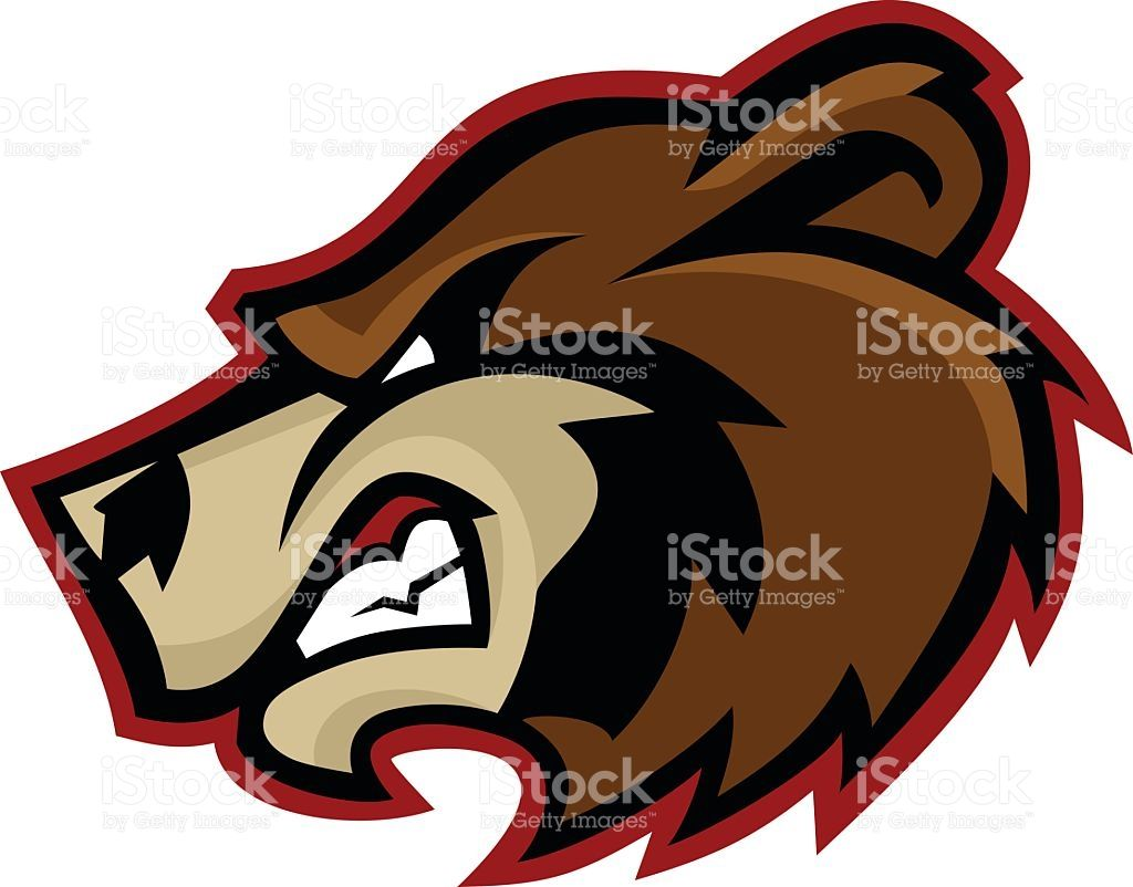small resolution of bear mascot logo royalty free stock vector art