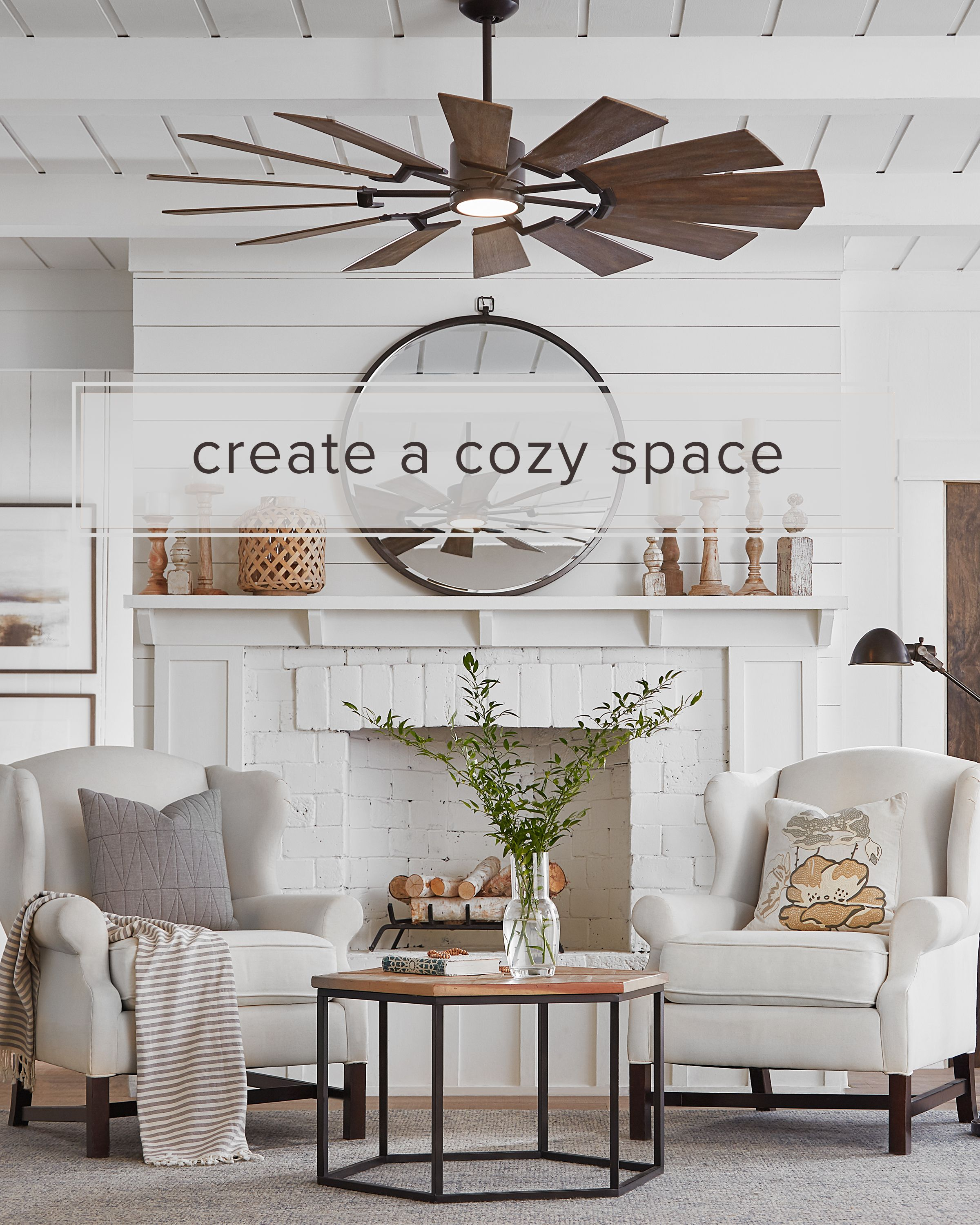 Prairie 62 Inch Ceiling Fan With Light Kit By Monte Carlo Fan Living Room Ceiling Fan Living Room Fans Living Room Ceiling